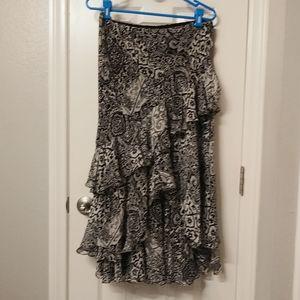 Lauren rl silk maxi skirt